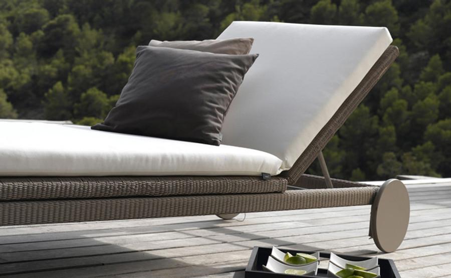 Terra adjustable sun lounger by Tribu