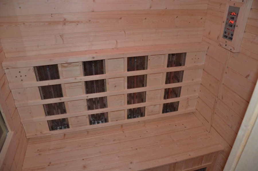 3 person outdoor Combi FAR infrared and stove sauna model Delray