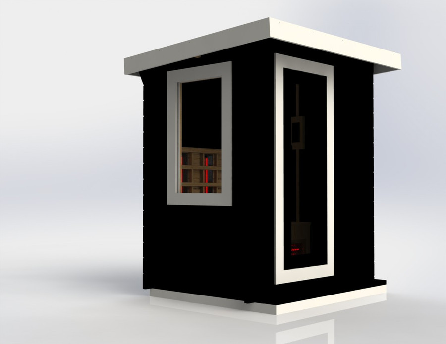 example of painted sauna