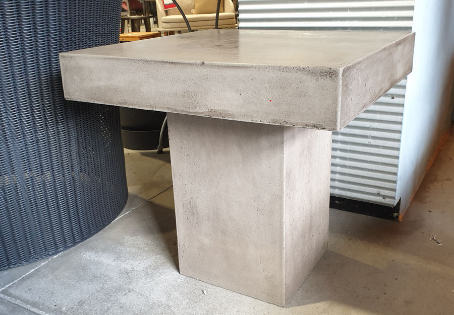 Campos lightweight concrete coffee table 60x60 top. 58cm high. Table rim is 10cm.
