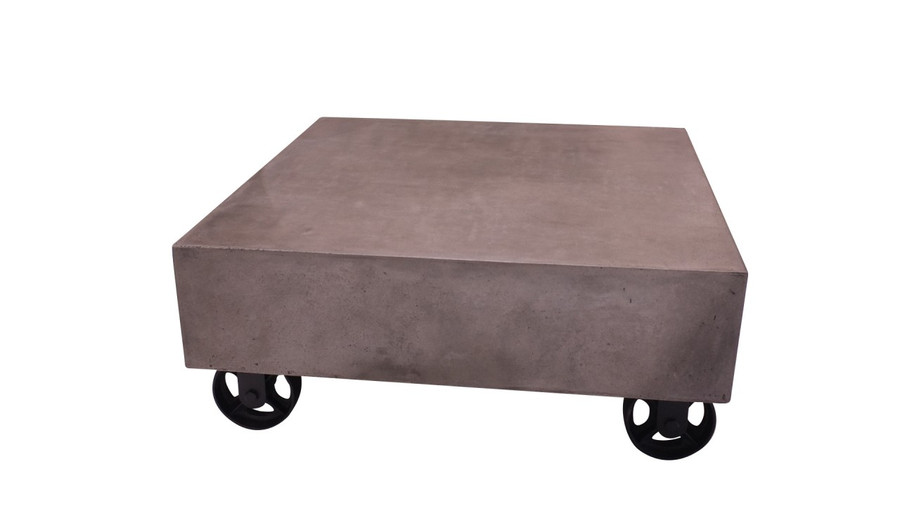 Soho lightweight concrete outdoor coffee table 80 x 80
