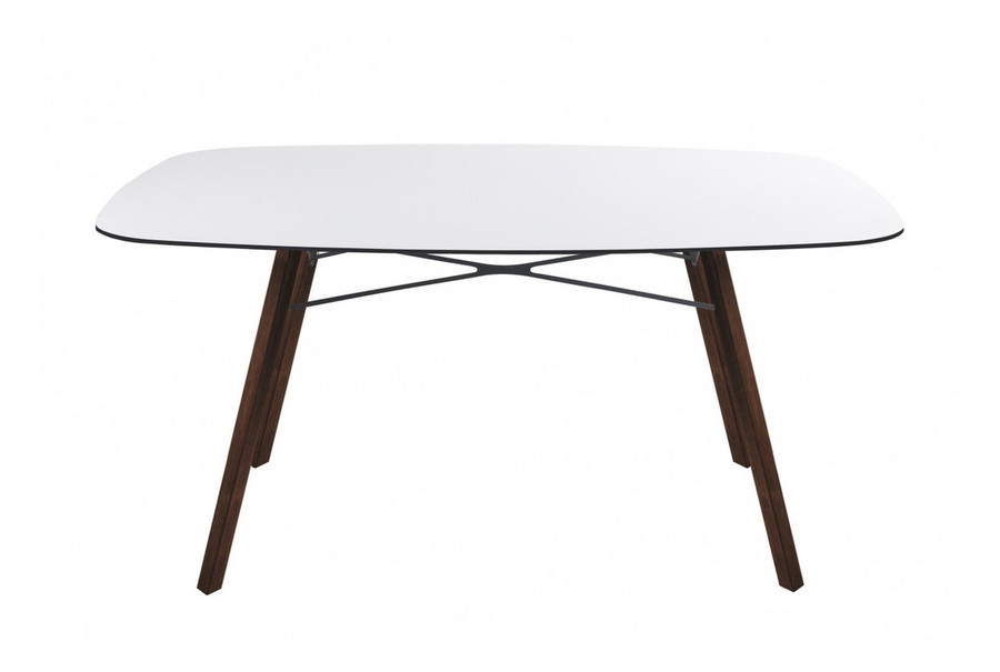 Wox Iroko outdoor dining table with HPL top - 159x119