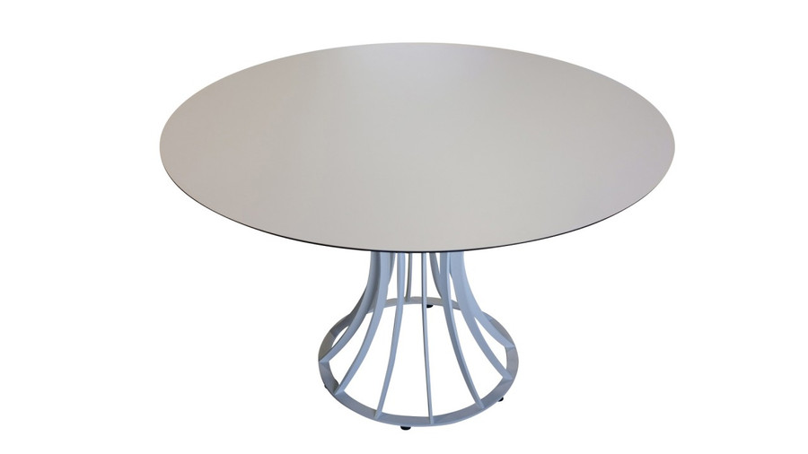 Onix outdoor dining table with HPL top - 120cm diameter
