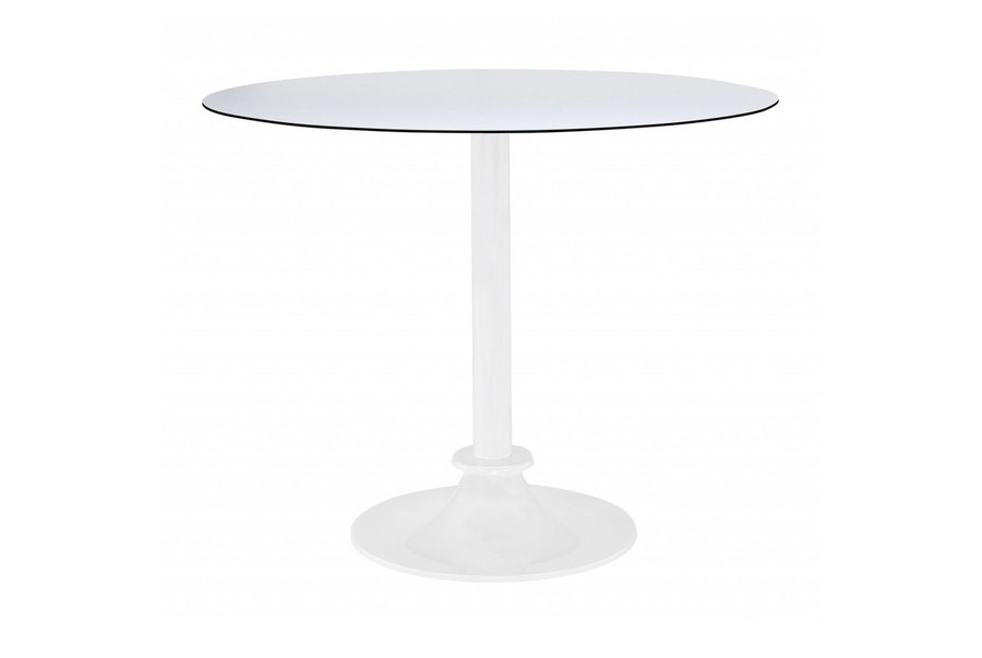 Spark small outdoor dining table with HPL top