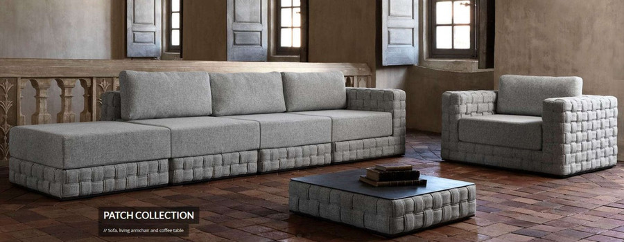 Patch armchair shown with optional Patch modular sofa set