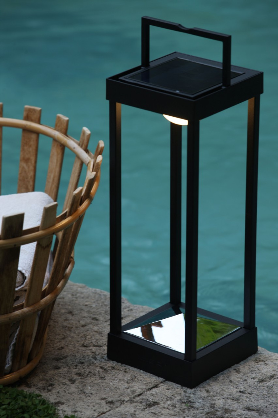LA LAMPE PARC Solar Lamp by Maiori -  WHITE FRAME ONLY