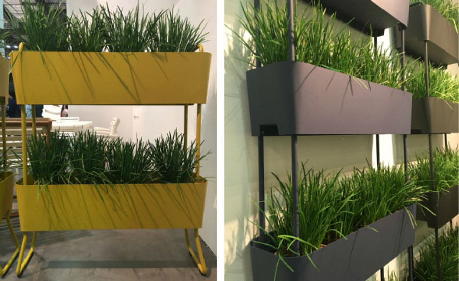 Maiori Greens - outdoor vertical garden planter - available in Mustard Yellow