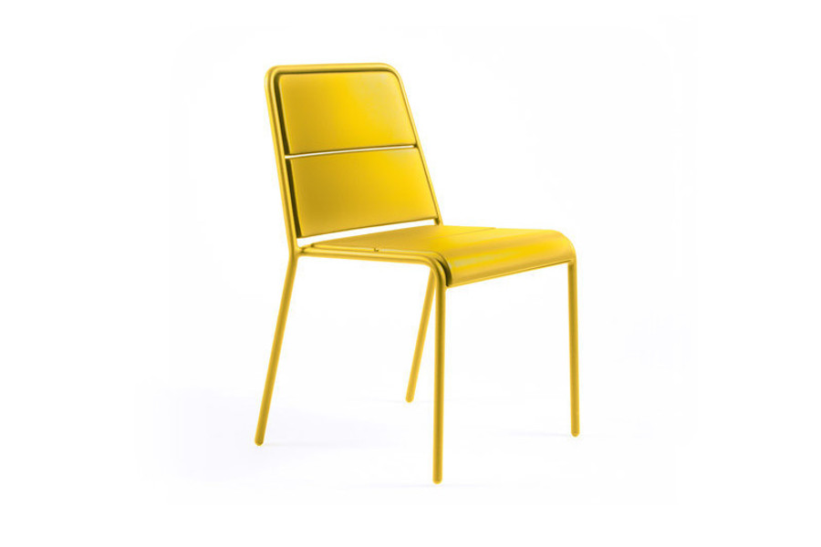 Maiori A600 Outdoor Aluminium Side Chair – Mustard Yellow