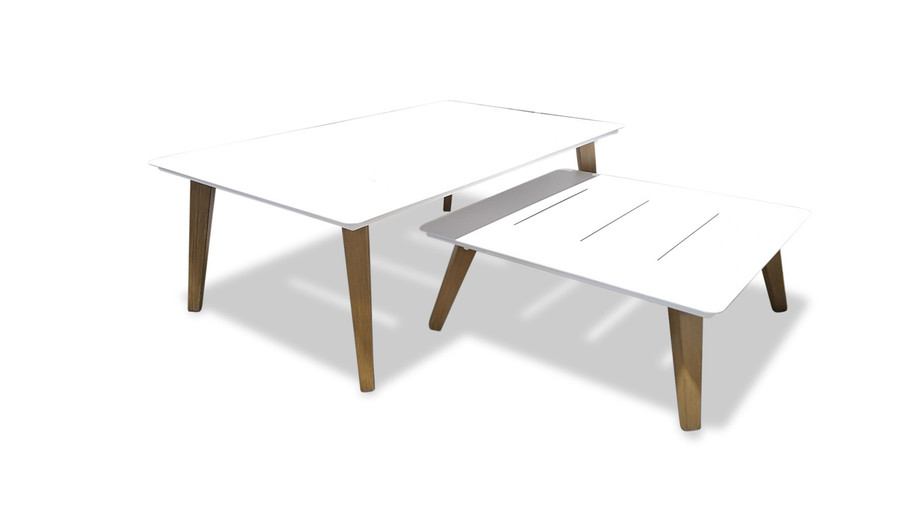 picture shows both rectangular and square Ponza coffee tables. They can be used as a nested pair.