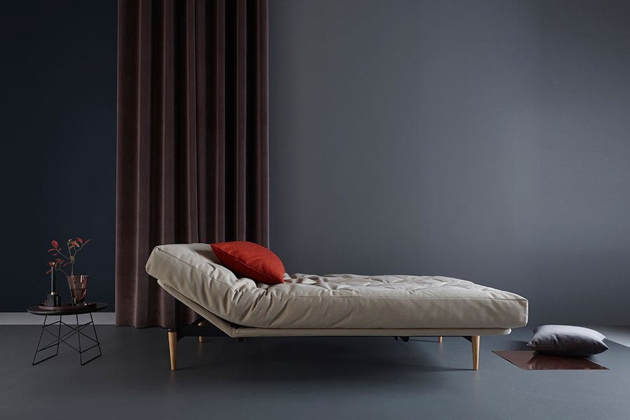 Colpus sofa bed with side rest in raised position