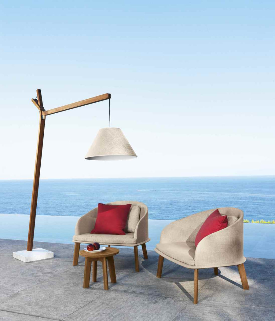 Cleo Outdoor Low Arm Chair By Talenti – Teak