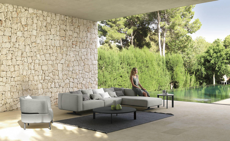Eden Outdoor Aluminium Framed Fabric Corner Sofa By Talenti