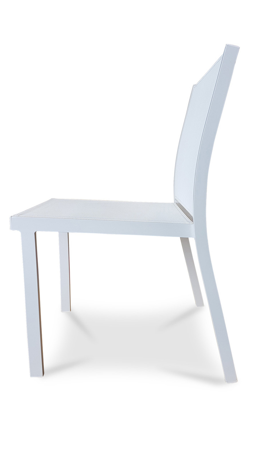 Dining Chair Basik - Textilene Sling - Charcoal And White