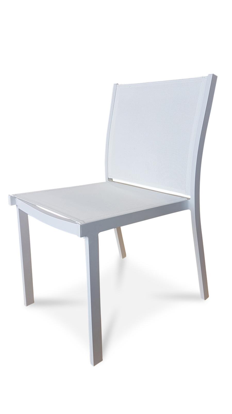 BASIK Dining Chair - Textilene Sling  (Charcoal or White)