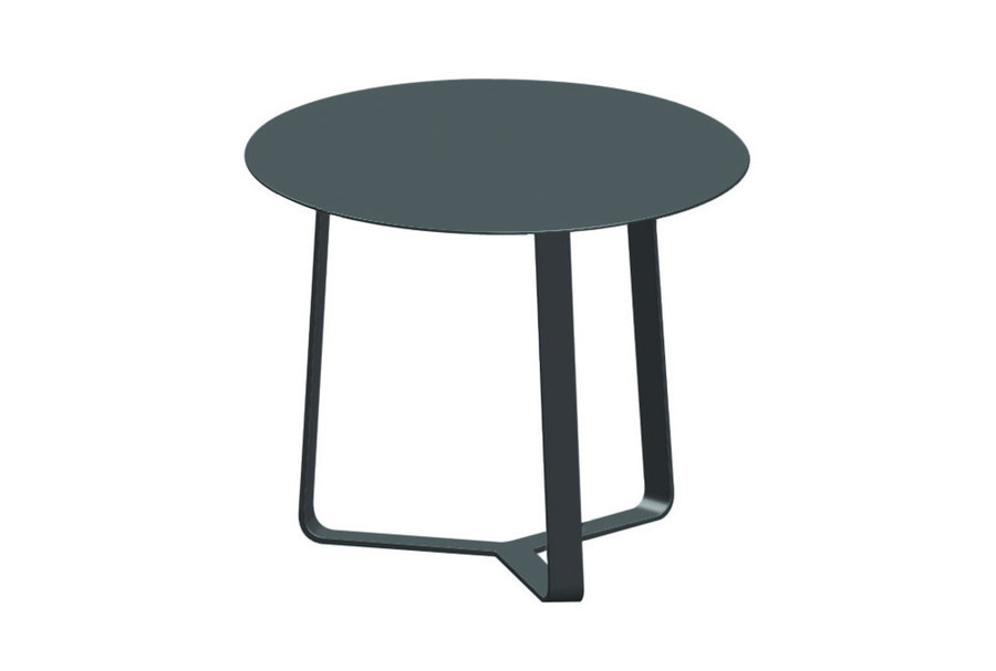 Apollo Outdoor Side Table - Small 44x35h - White And Charcoal