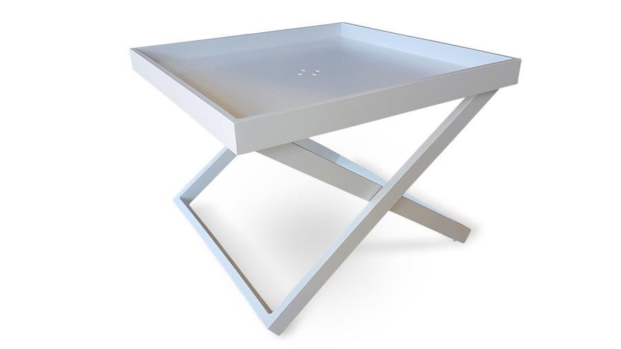 Miami Tray Side Table 60x60x45h White