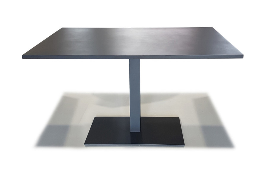 Iris Outdoor Aluminium Cafe Table 120x80x74 -  White or Charcoal