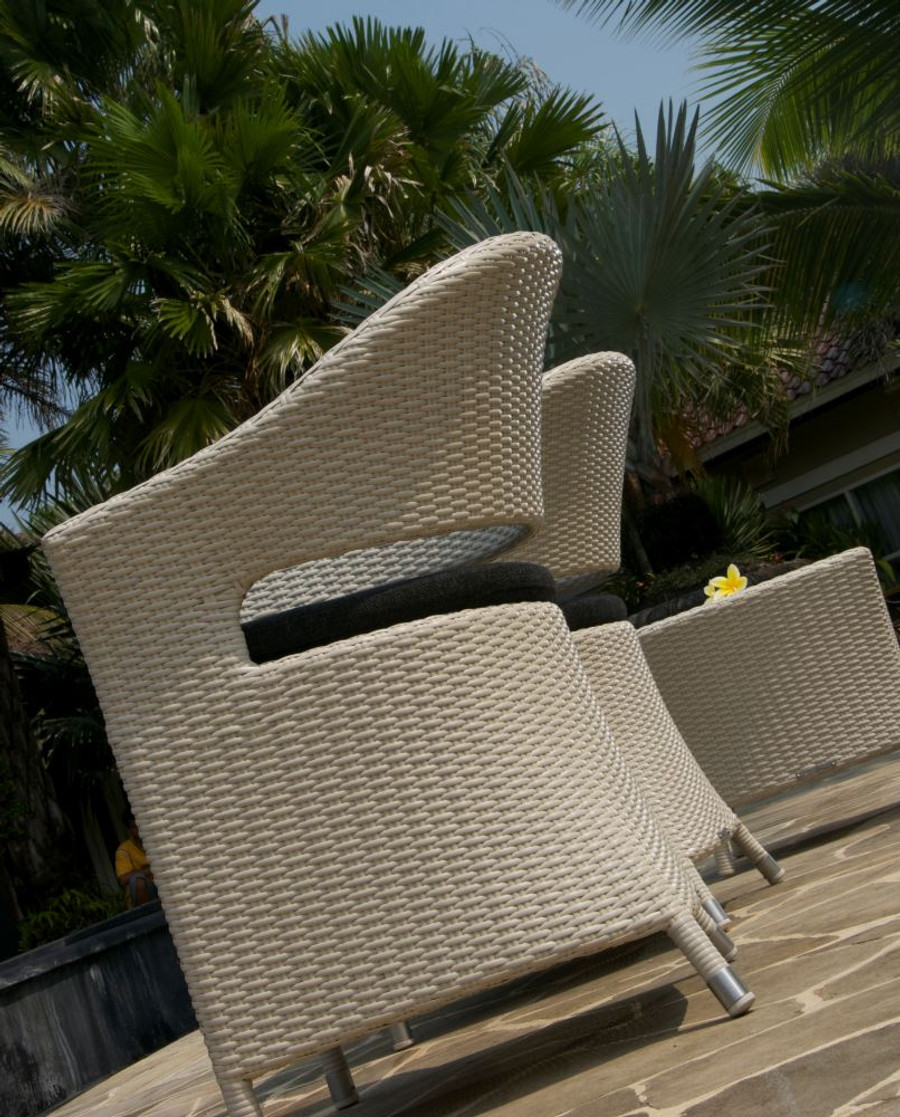 Picture of chair is illustrative of design only. Different wicker is shown