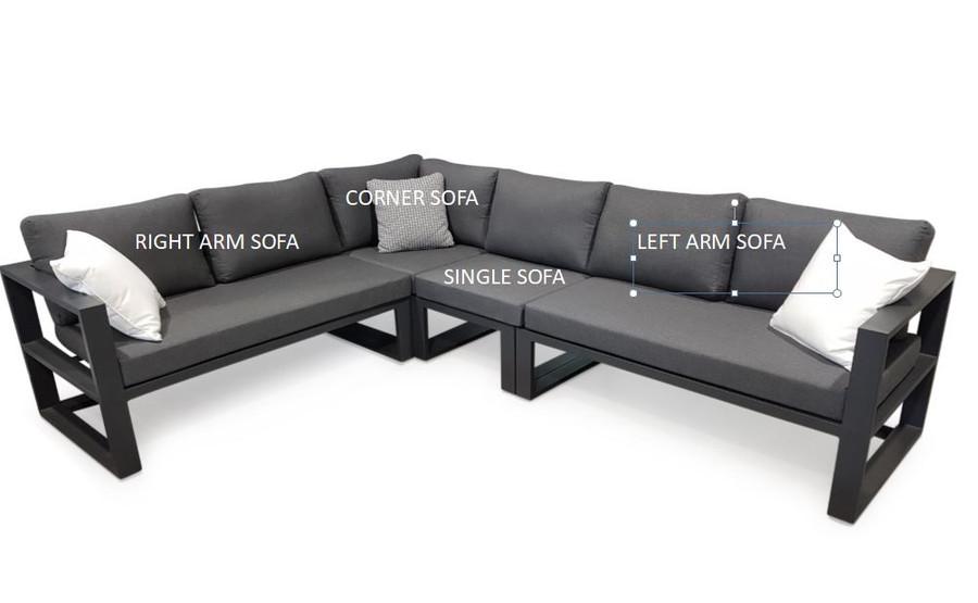 Belluno Modular  Outdoor Corner Lounge Sofa Lounge Set