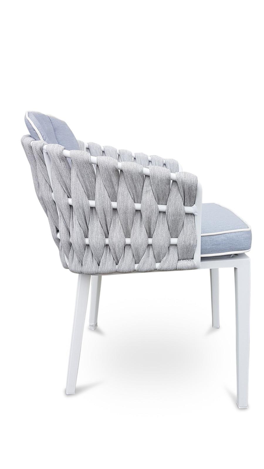ZEN Outdoor Strap & Aluminium Dining Arm Chair