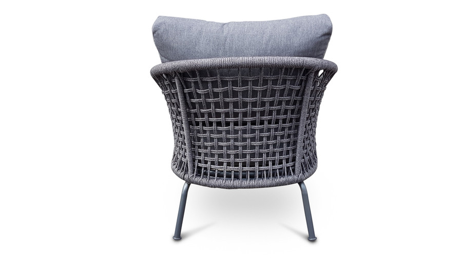 Lattice Outdoor Rope And Aluminium Lounge Chair