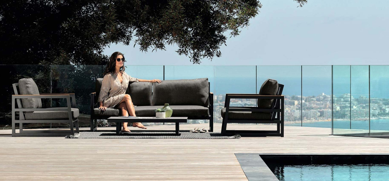 Talenti ALABAMA aluminium outdoor sofa NZ