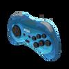 SEGA Saturn 8-button Arcade Pad 2.4GHz Wireless [Clear Blue]