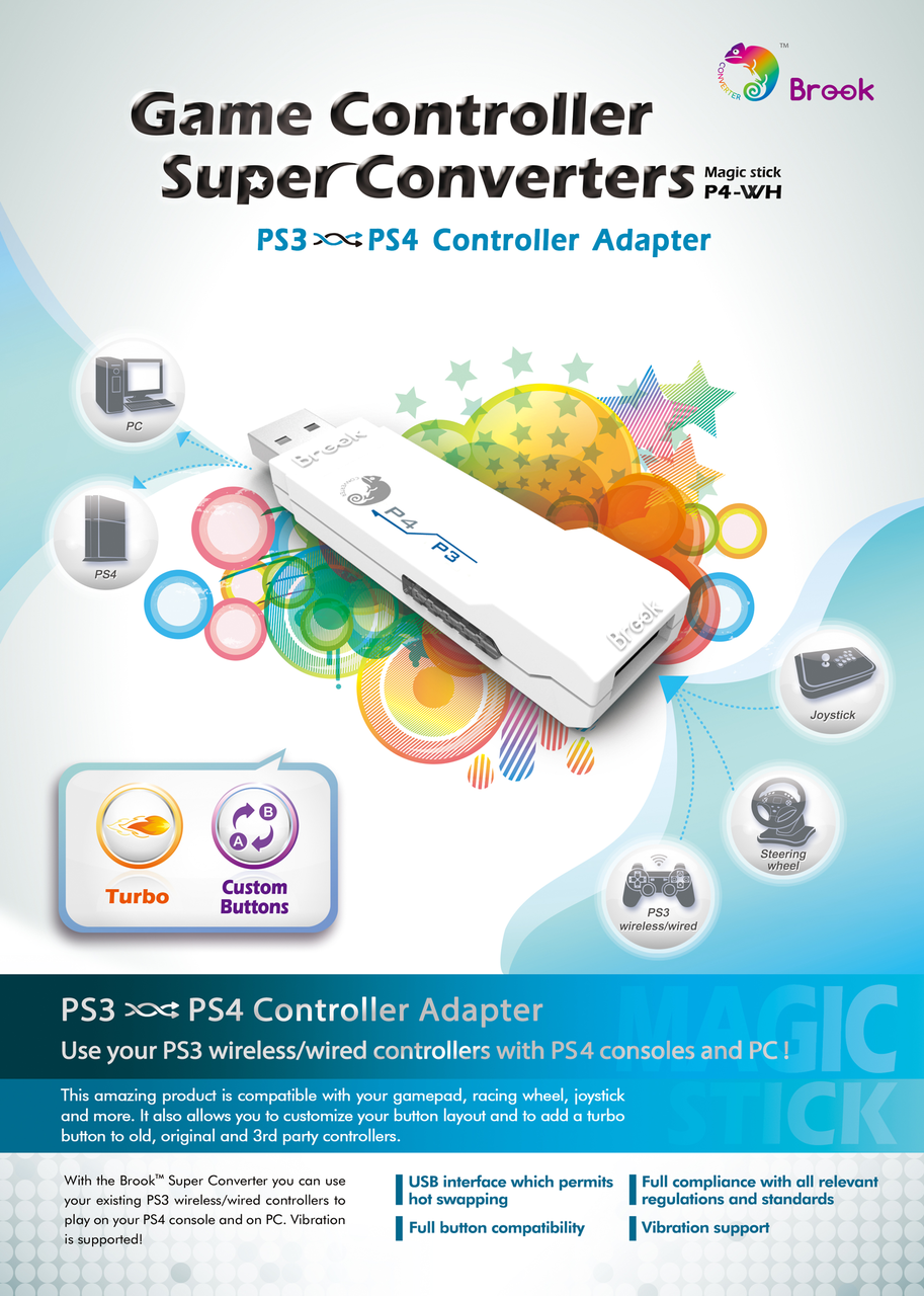 Ps3 To Ps4 Controller Converter Adapter P4 Wh Brook Wiring Diagram For Ps2 Usb Along With Neo Geo