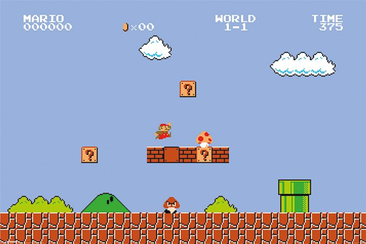 Super Mario Bros Level 1 1 Poster Videogamesnewyork