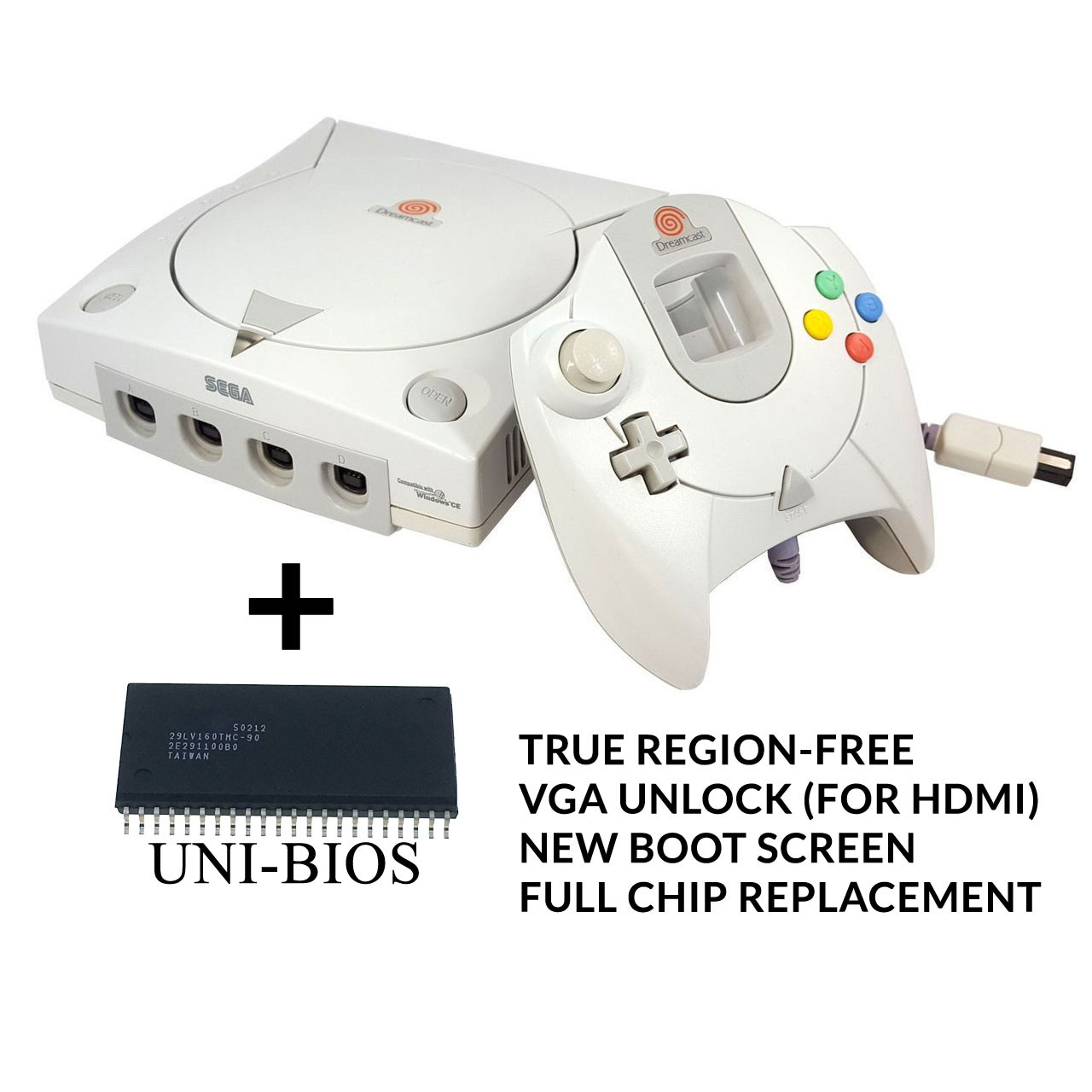 Sega Dreamcast System w/ UniBios [REGION FREE]