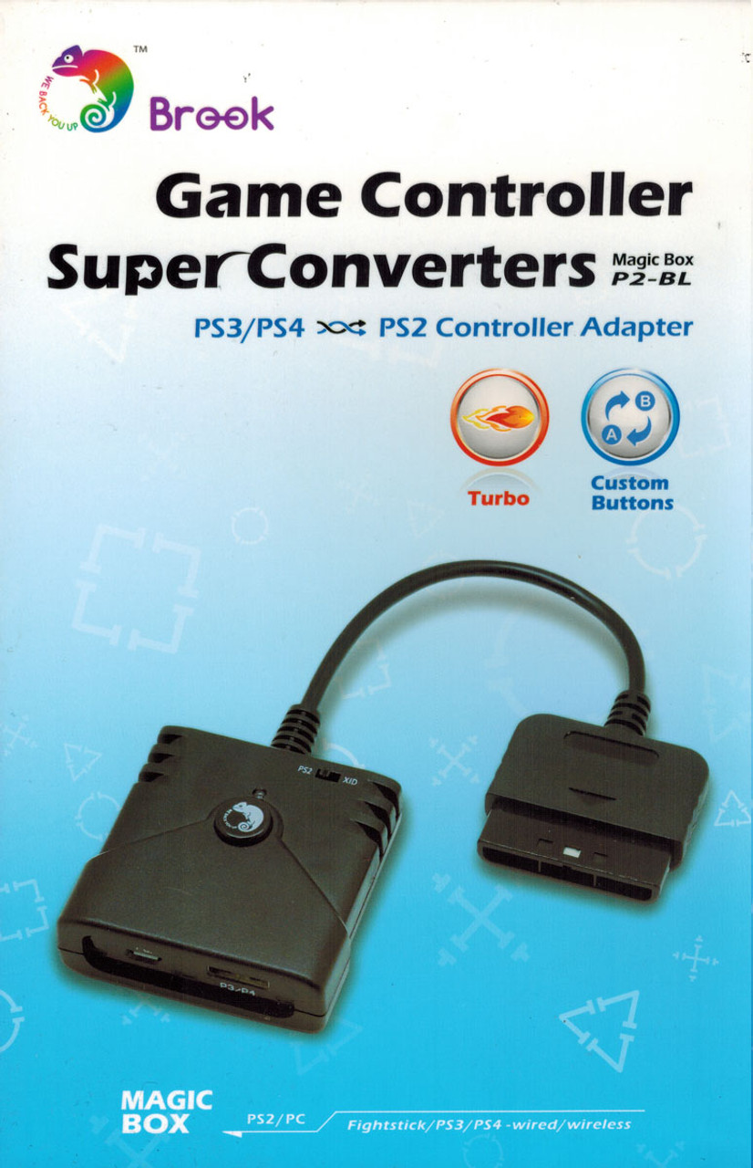 brook retro converter: ps3/ps4 to ps2/ps1 adapters