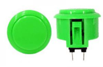 OBSF-30 BUTTON GREEN, 30mm Solid Color Buttons, VideoGamesNewYork, VGNY