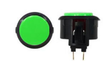 OBSF-30 BUTTON GREEN/BLACK, Sanwa Buttons, VideoGamesNewYork, VGNY