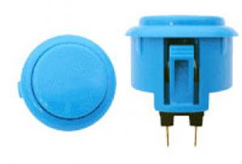 OBSF-30 BUTTON LIGHT BLUE, 30mm solid buttons, VideoGamesNewYork, VGNY