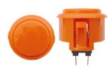 OBSF-30 BUTTON ORANGE, 30mm Solid Color Arcade Button, VideoGamesNewYork, VGNY
