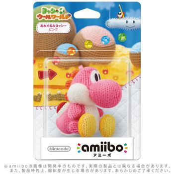 Pink Yarn Yoshi - Yoshi Woolly World Amiibo - Japan Import