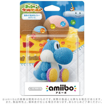 Blue Yarn Yoshi - Yoshi Woolly World Amiibo  - Japan Import