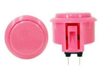 OBSF-30 BUTTON PINK, 30mm Solid Color Arcade Buttons, VideoGamesNewYork, VGNY