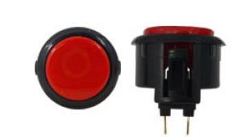 OBSF-30 BUTTON RED/BLACK, 30-K Black Rims, VideoGamesNewYork, VGNY