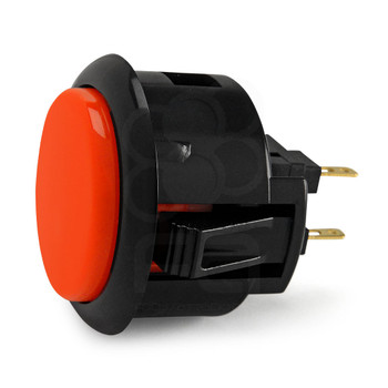 SANWA OBSF-30 mm Push Button Vermilion/Black