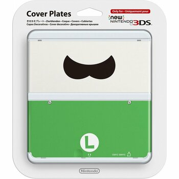 NEW NINTENDO 3DS COVER PLATES N.048 (LUIGI MUSTACHE)