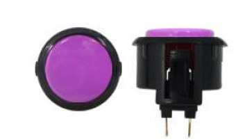 OBSF-30 BUTTON VIOLET/BLACK, 30-K Black Rim Buttons, VideoGamesNewYork, VGNY
