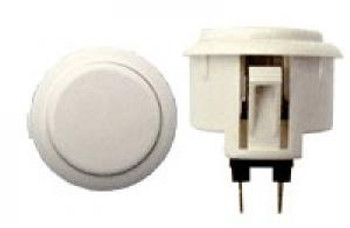 OBSF-30 BUTTON WHITE, 30mm Solid Color VideoGamesNewYork, VGNY