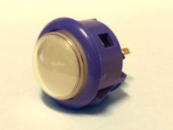 OBSF-30Q DARK BLUE, 30mm Dome Button Arcade Button, VideoGamesNewYork, VGNY