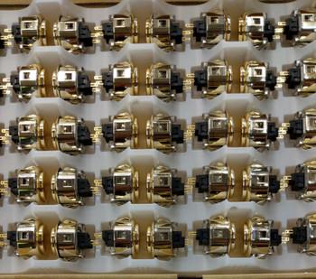 SANWA OBSJ-30 mm Pushbutton Metallic Gold
