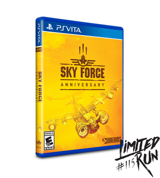 SKY FORCE ANNIVERSARY (VITA) LIMITED RUN #115, PlayStation Vita, VideoGamesNewYork, VGNY
