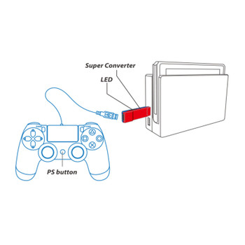 Brook Super Converter: PS3/PS4 to Nintendo Switch USB Adapter
