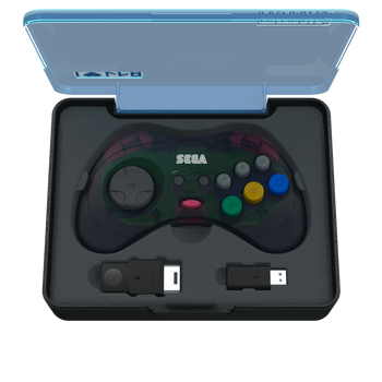 SEGA Saturn 8-button Arcade Pad 2.4GHz Wireless [Slate Grey]