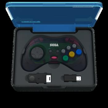 SEGA Saturn 8-button Arcade Pad 2.4GHz Wireless [Slate Grey]