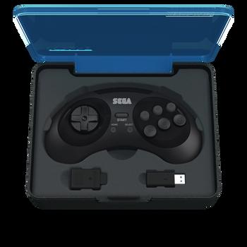 SEGA Genesis 8-button Arcade Pad 2.4GHz Wireless [Black]